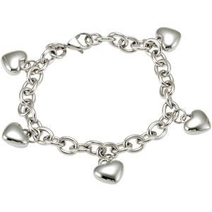 Amalfi Stainless Steel Heart Charm Bracelet Ref 203023