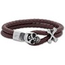 Leather and Stainless Steel Bracelet Ref 356170