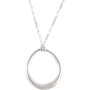 Sterling Silver 16 inch Necklace with Fashion Drop Ref 447260