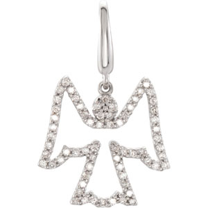 .33 CTW Diamond Angel Charm Ref 695530