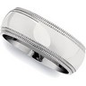 6 or 8mm Double Milgrain Stainless Steel Band Ref 559954