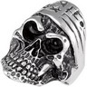 Stainless Steel Skull Ring Ref 717952