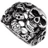 Stainless Steel Skull Ring Ref 228026