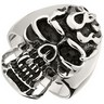 Stainless Steel Skull Ring Ref 535939