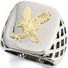 Stainless Steel Ring with 10kt Yellow Eagle Ref 791210