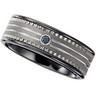 8.3mm Dura Tungsten and Ceramic Couture Black Diamond Band with Inlay Ref 643305
