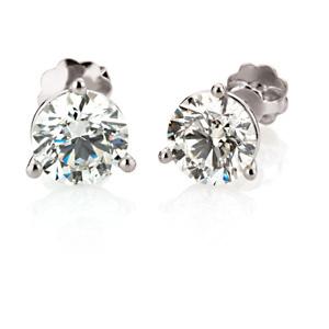Diamond Stud Earrings 1 0 5 Or 2 Ctw Ref 549404