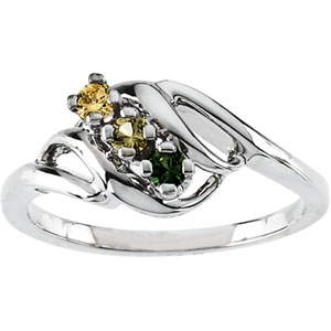 Birthstone Mothers Ring May hold up to 5 round 2.5mm gemstones Ref 150000
