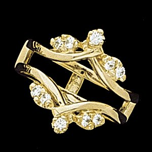 Diamond Ring Guard 14K 25 pttw dia