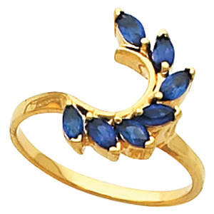 Blue Sapphire Ring Guards