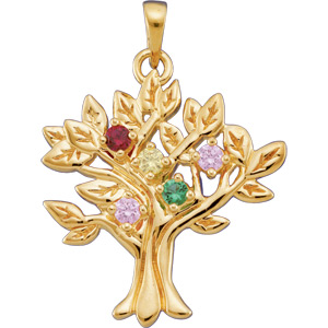 My Tree  Pendant Holds up to 9 birthstones 31 x 27.5mm Ref 827224