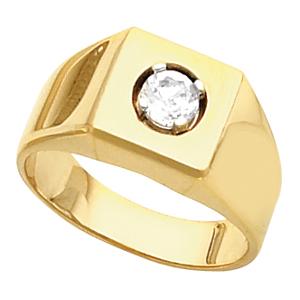 Mens Swarovski Solitaire Ring 2 Carat Ref 227824