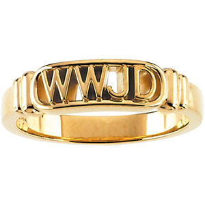 What Would Jesus Do Wedding Ring 5.25 to 6mm Width