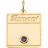 Calendar Month Pendant with Birthstone 16.5 x 15mm Ref 433217