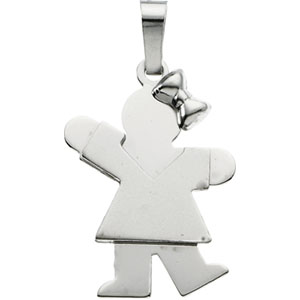 The Kids Kiss Collection Girl Pendant Ref 261392