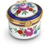 Round Porcelain Hinged Box Ref 518650