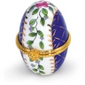 Small Egg Shaped Porcelain Hinged Box Ref 170930