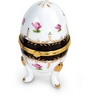 Large Egg Shaped Porcelain Hinged Box Ref 327429