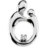 Mother and Child  Diamond Pendant 20.75 x 13.75mm Ref 956610