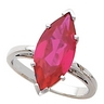 Scroll Design Ring Mounting for Marquise Shape Gemstone 8 x 4mm Ref 725988