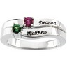 Engraveable Birthstone Mothers Ring Holds up to 4 gemstones Ref 911528