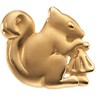 The Trusting Squirrel Brooch | 20.75 x 24.5 mm