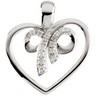 Diamond Grateful Heart  Pendant 20.25 x 21.5mm Ref 620456