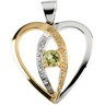 Semi Set Anniversary Heart Pendant 20.75 x 20.5mm Ref 519660