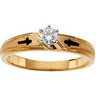 Cross Design Engagement Ring with Ladies  Band and Mens Band Set of 3 Ref 870388