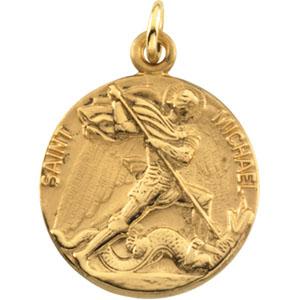 St Michael Gold Pendant - Pendant Information