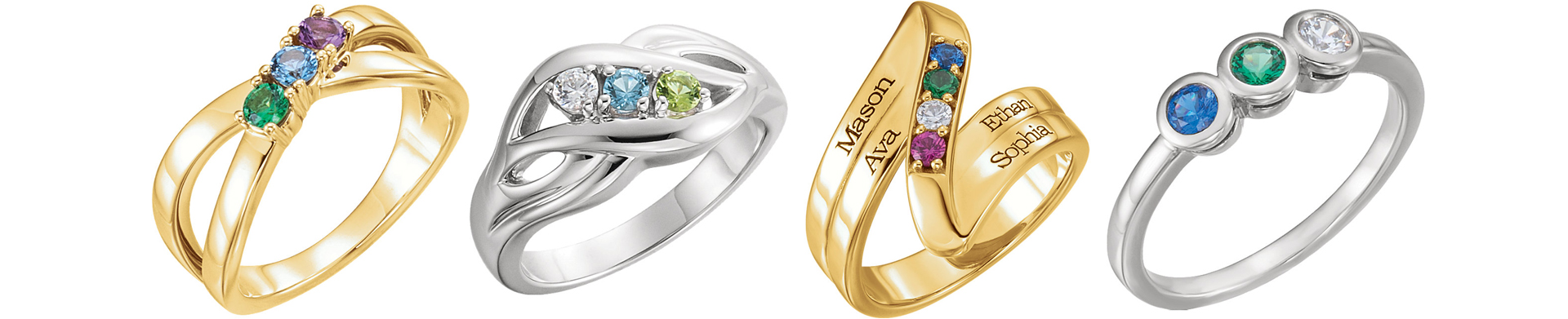 Birthstone Mother's Rings