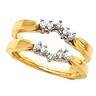 Diamond Ring Guard 14K 18 pttw dia