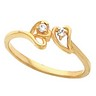 Accented Heart Ring 5 pttw dia. Ref 599993