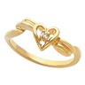 Accented Heart Ring 2 pttw dia. Ref 395660