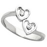 Accented Heart Ring 7 pttw dia. Ref 149306