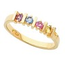 Birthstone Mothers Ring May hold 2 to 6 round 2.5mm gemstones Ref 652444