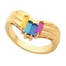 Birthstone Mothers Ring May hold 2 to 6 baguette 5 x 2mm gemstones Ref 944186