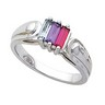 Birthstone Mothers Ring May hold 2 to 6 baguette 5 x 2mm gemstones Ref 296207
