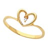 Accented Heart Ring 1 pttw dia. Ref 966143