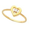 Heart Shaped Ring 5 pttw dia. Ref 119866