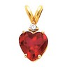 14K Gold Heart 4-Prong Wire Basket Pendant with Accent | SKU: 1266