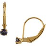 Youth Genuine Birthstone Lever Back Earrings 3mm Ref 476781