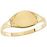Round Signet Ring 6mm Ref 116885