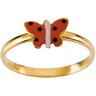 Butterfly Enamel Ring 5mm Wide Ref 351889