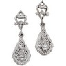 Filigree Dangle Earrings  27.5 x 7.75mm Ref 759133