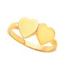 Double Heart Signet Ring Ref 381546