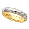 4mm Platinum and 18K Gold Design Inside Round Comfort Fit Milgrain Band Ref 704936