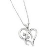 Diamond Heart Pendant on 18 inch Gold Rope Chain .03 CTW Ref 917841