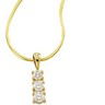 3 Stone Diamond Pendant Slide on Chain .75 Carat Ref 139223
