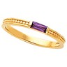 Mothers Stackable Ring May hold up to 3 baguette 5 x 2mm gemstones Ref 737822